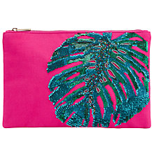 Buy John Lewis Leaf Zip Top Clutch Bag, Multi Online at johnlewis.com
