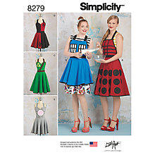 Buy Simplicity Unisex Aprons from Lori Ann Costume Designs Sewing Pattern, 8279, A Online at johnlewis.com