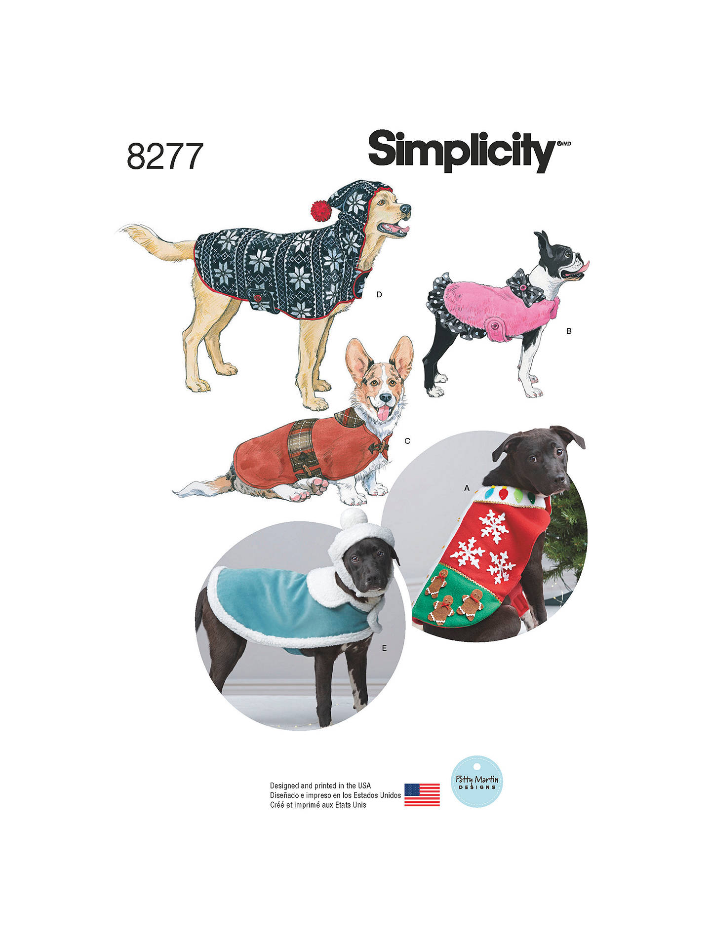 5cf9f4863ec Buy Simplicity Fleece Dog Coats and Hats Sewing Pattern
