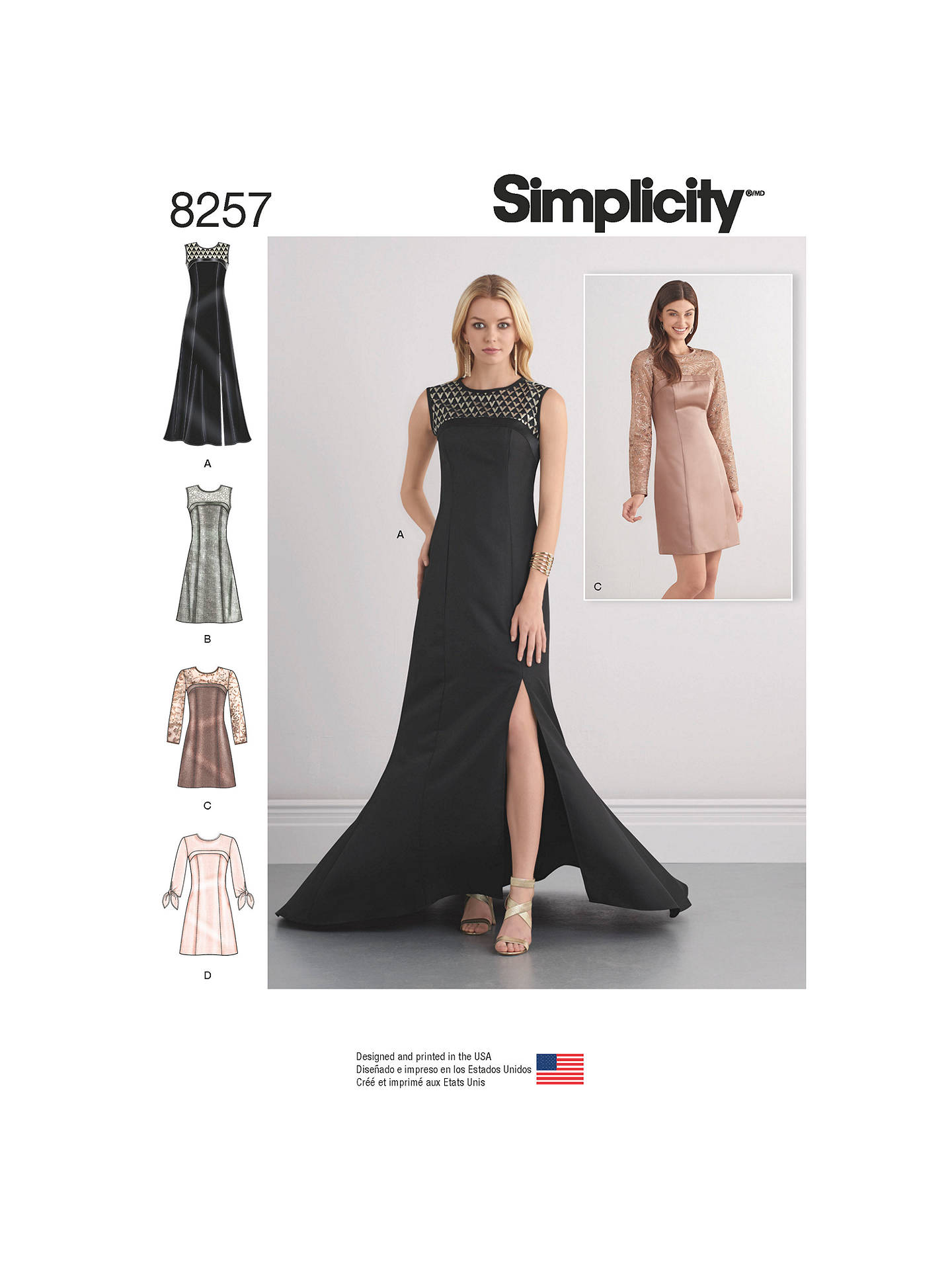 c4715ba2c0 Simplicity Special Occasion Dresses and Gown Sewing Pattern, 8257