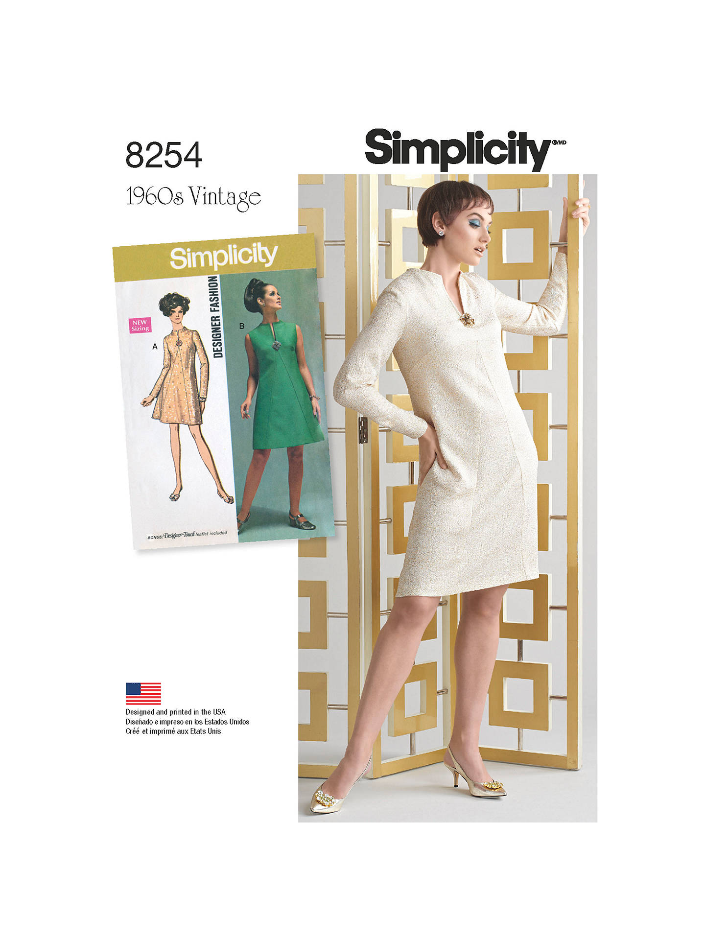 6c2e9595cc5c4 Buy Simplicity Vintage Women's and Plus Size 1960s Dresses Sewing Pattern,  8254, BB Online ...