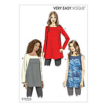 Buy Vogue Women's Top Sewing Pattern, 9225 Online at johnlewis.com