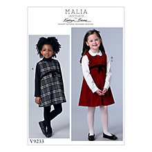 Buy Vogue Children's Dress and Blouse Sewing Pattern, 9233 Online at johnlewis.com