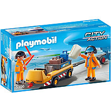 Buy Playmobil City Action Aircraft Tug & Ground Crew Online at johnlewis.com