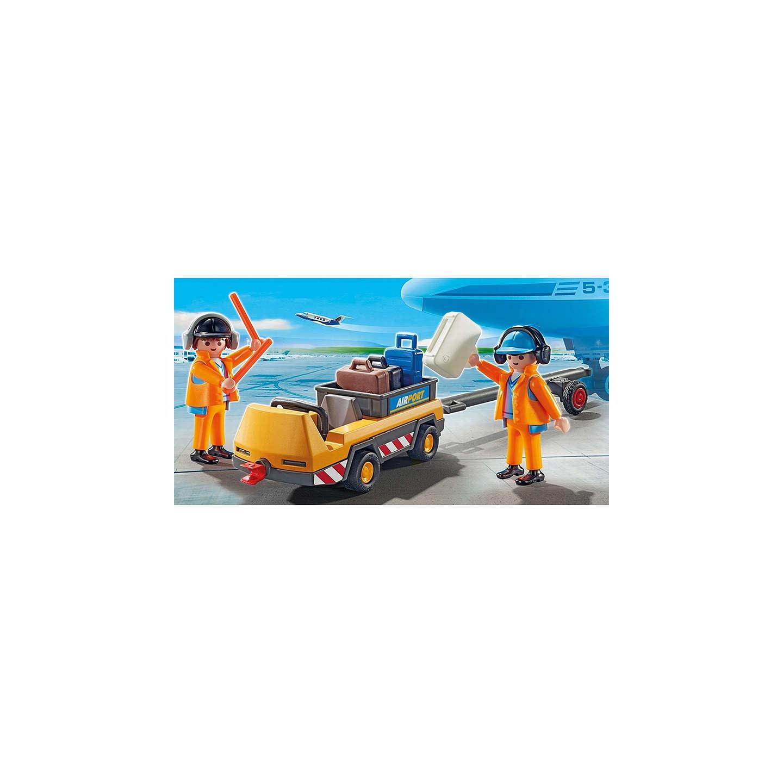 Playmobil City Action Aircraft Tug & Ground Crew at John Lewis