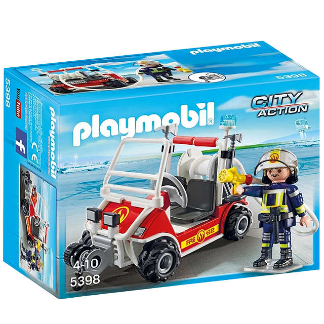 BuyPlaymobil City Action Airport Fire Quad Online at johnlewis.com