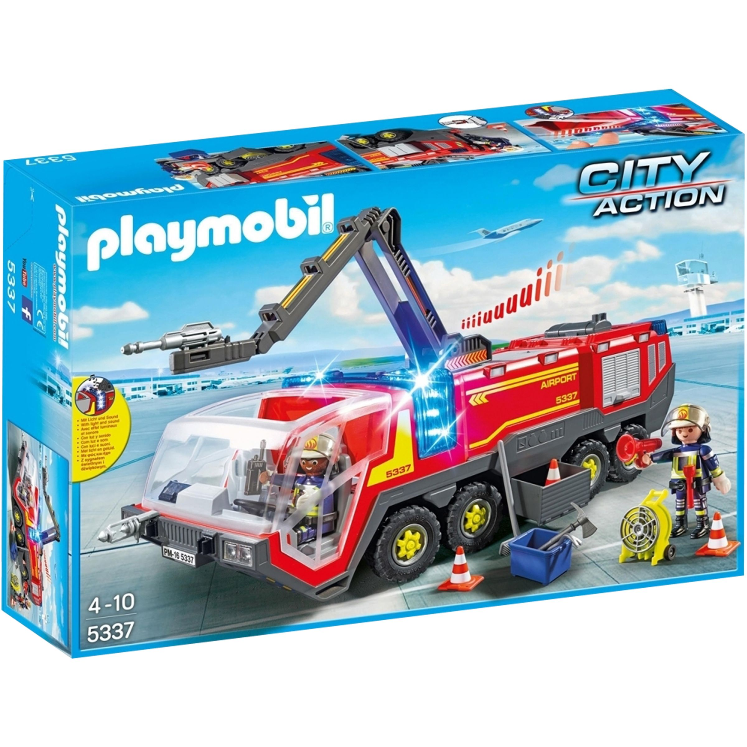 PLAYMOBIL Playmobil City Airport Fire Engine With Lights & Sounds