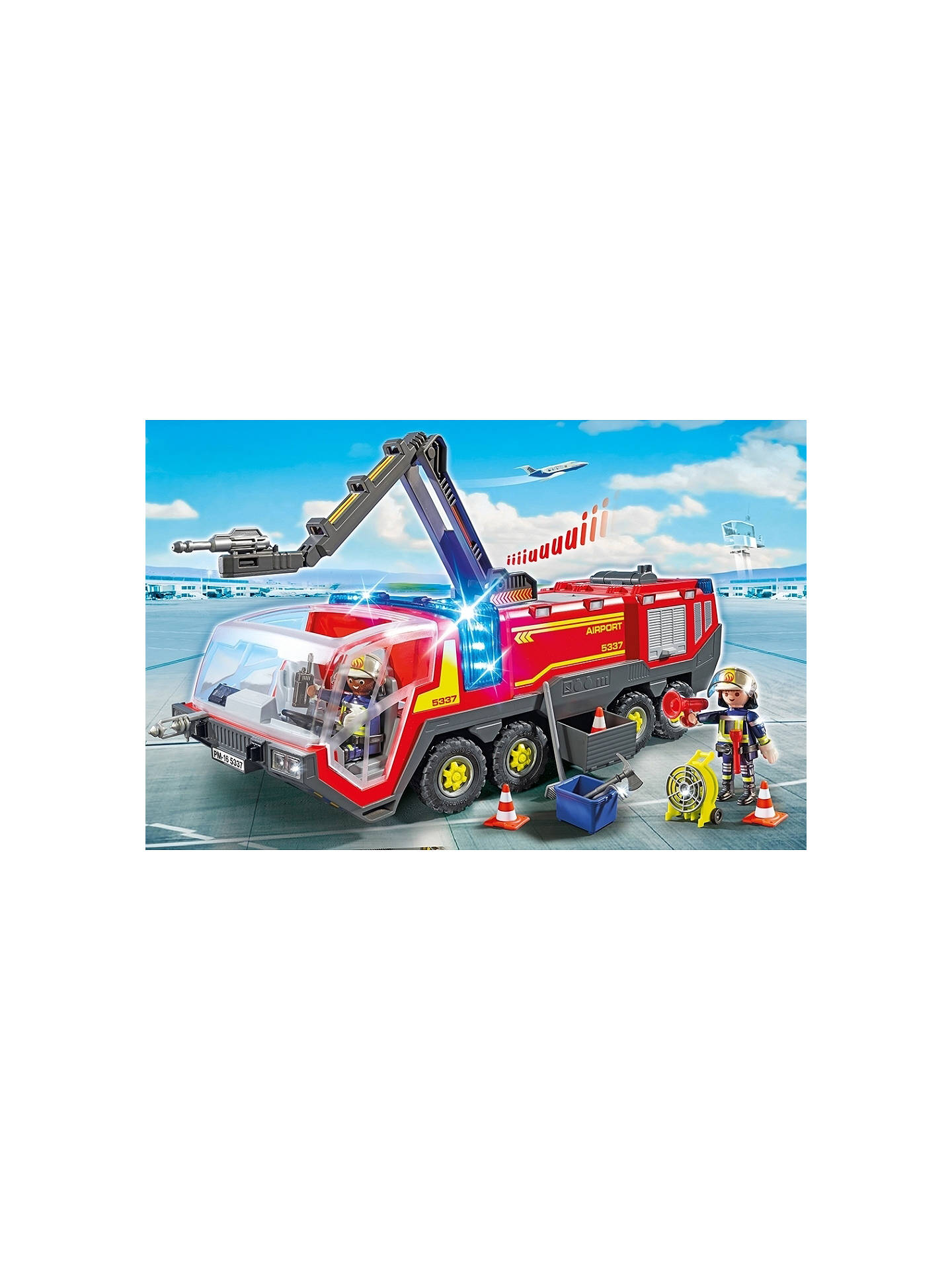 Buy Playmobil City Airport Fire Engine With Lights & Sounds Online at johnlewis.com