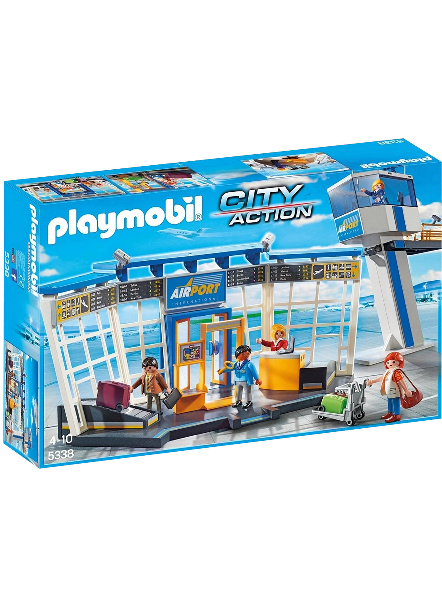 Buy Playmobil City Action Airport Control Tower Online at johnlewis.com