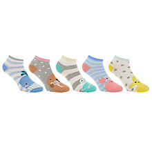 Buy John Lewis Sea Animal Trainer Socks, Pack of 5, Multi Online at johnlewis.com