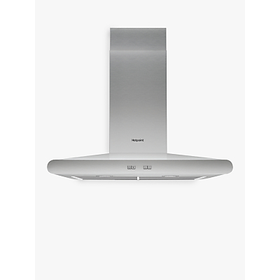 Image of Hotpoint PHC7.7FLBIX Chimney Cooker Hood, Stainless Steel
