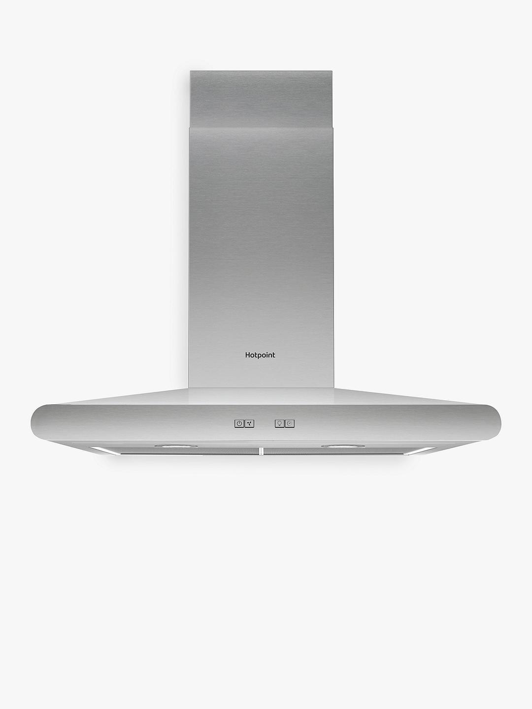 Hotpoint 70cm cooker hood matte black soap dispenser wall mounted