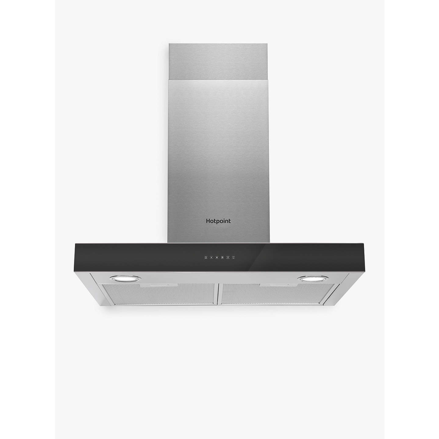 BuyHotpoint PHBS6.8FLTIX Chimney Cooker Hood, Stainless Steel Online at johnlewis.com