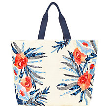 Buy John Lewis Woven Canvas Floral Tote Bag, Multi Online at johnlewis.com