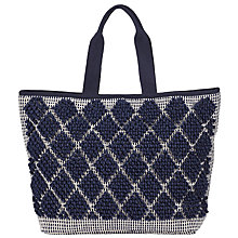 Buy John Lewis Bobble Canvas Tote Bag, Navy Online at johnlewis.com