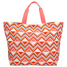 Buy John Lewis Geo Print Canvas Tote Bag, Multi Online at johnlewis.com