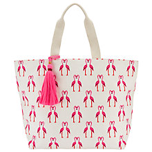 Buy John Lewis Flamingo Canvas Tote Bag, Pink Flamingo Online at johnlewis.com