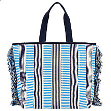 Buy John Lewis Woven Stripe Canvas Tote Bag Online at johnlewis.com