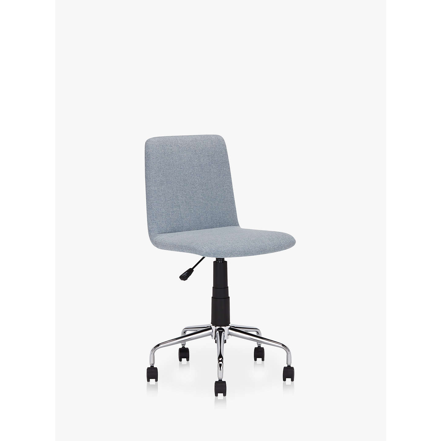 House By John Lewis Nova Fabric Office Chair Blue Grey At Johnlewis