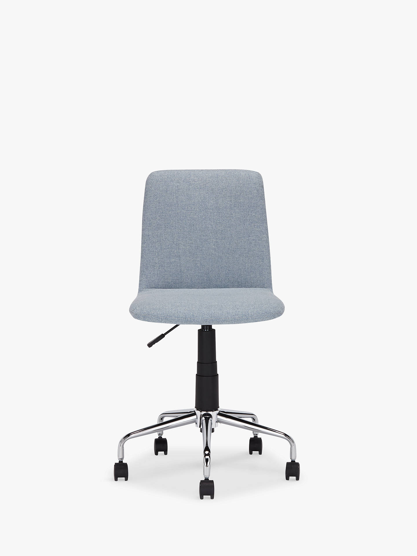 Buyhouse by john lewis nova fabric office chair blue grey online at johnlewis