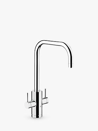 Abode Pronteau 2 Lever 4-in-1 Instant Steaming Hot Water Filter Kitchen Mixer Tap, Chrome