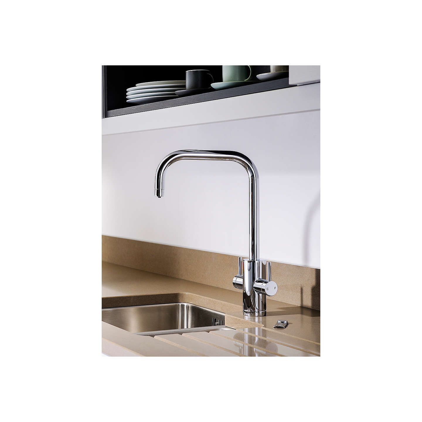 Abode Pronteau 2 Lever 4-in-1 Hot Water Filter Kitchen Mixer Tap ...