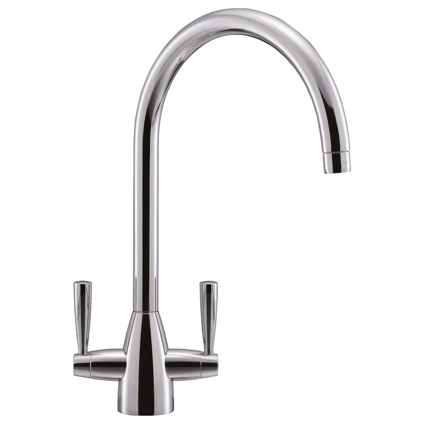 Franke Eiger 2 Lever Kitchen Tap | Chrome at John Lewis