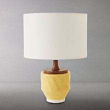 Buy Roar + Rabbit for west elm Ripple Large Ceramic Table Lamp, Yellow Online at johnlewis.com