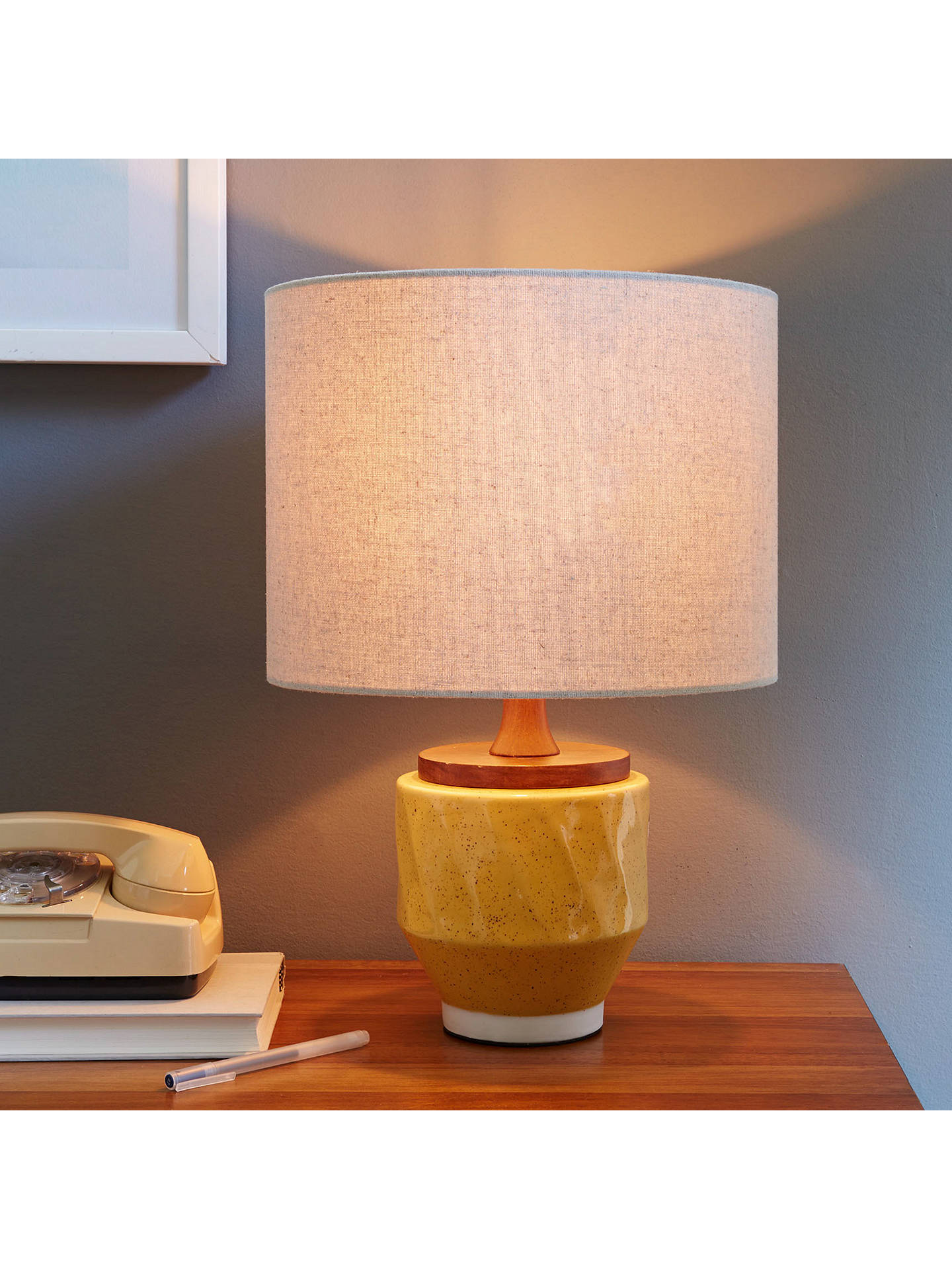 ... BuyRoar + Rabbit For West Elm Ripple Large Ceramic Table Lamp, Yellow  Online At Johnlewis ...