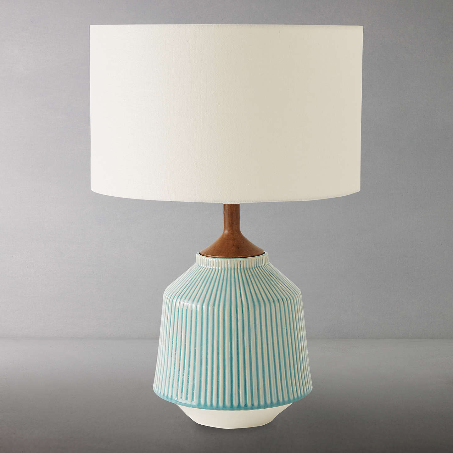 Roar rabbit for west elm ripple large ceramic table lamp at john lewis buyroar rabbit for west elm ripple large ceramic table lamp turquoise online at johnlewis aloadofball Image collections