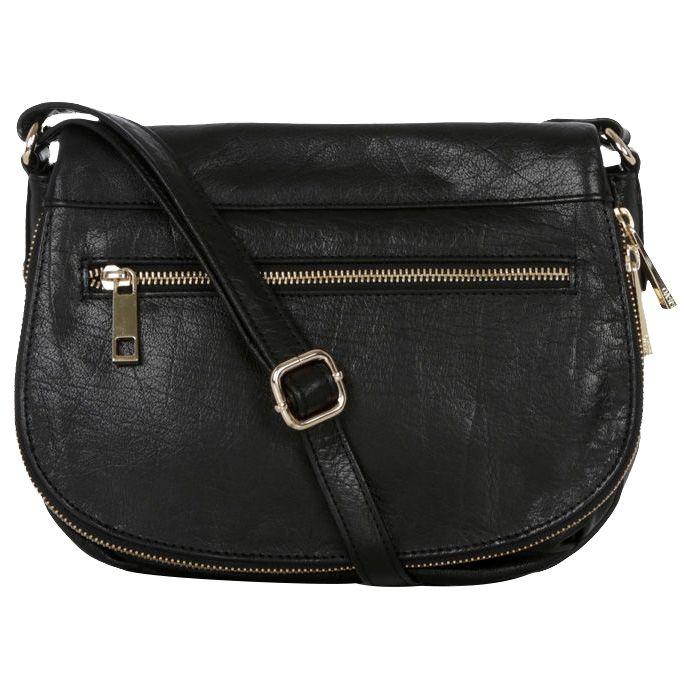 6bcd469232d3 Oasis Leather Anais Satchel, Black at John Lewis & Partners
