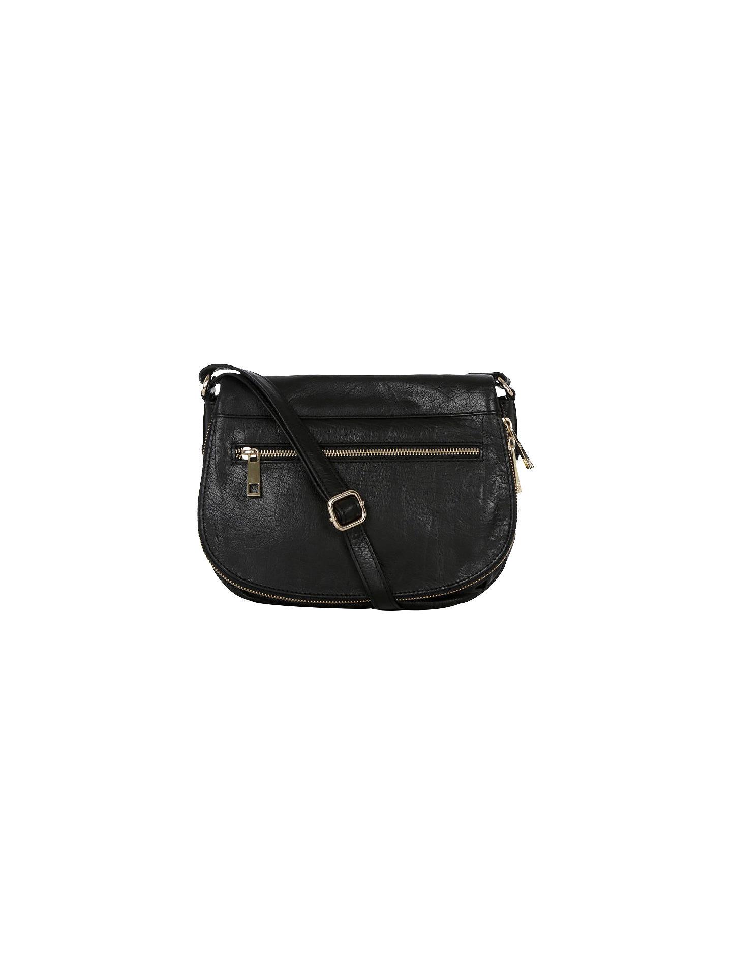b7fb036120db Buy Oasis Leather Anais Satchel, Black Online at johnlewis.com ...