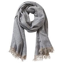 Buy Betty & Co. Long Textured Fringed Scarf, Light Blue/White Online at johnlewis.com