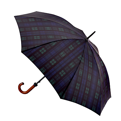 Image of Fulton Huntsman-2 Blackwatch Walking Umbrella, Navy/Green