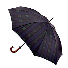 Buy Fulton Huntsman-2 Blackwatch Walking Umbrella, Navy/Green Online at johnlewis.com