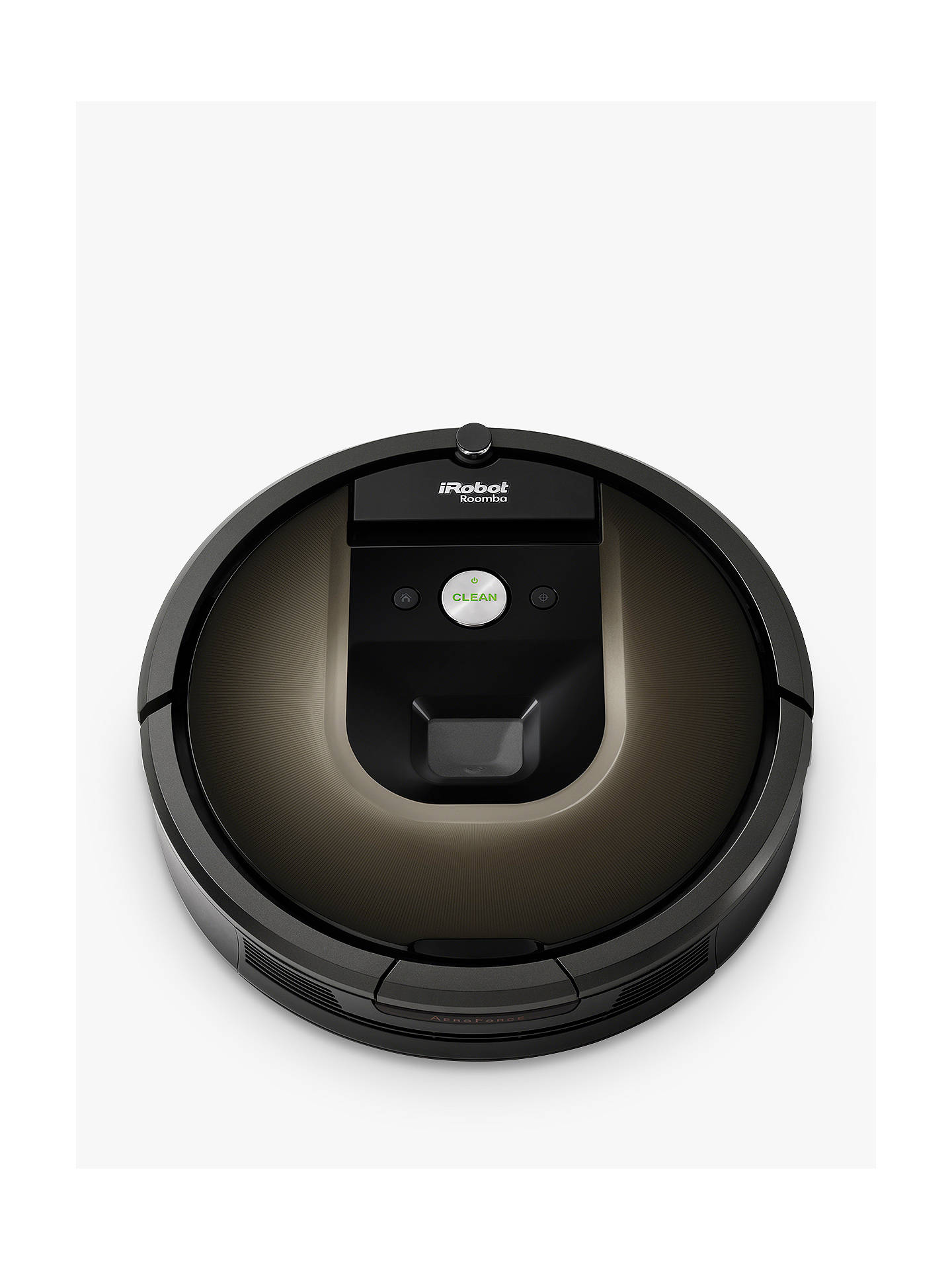 Buy iRobot Roomba 980 Robot Vacuum Cleaner, Black / Brown Online at johnlewis.com