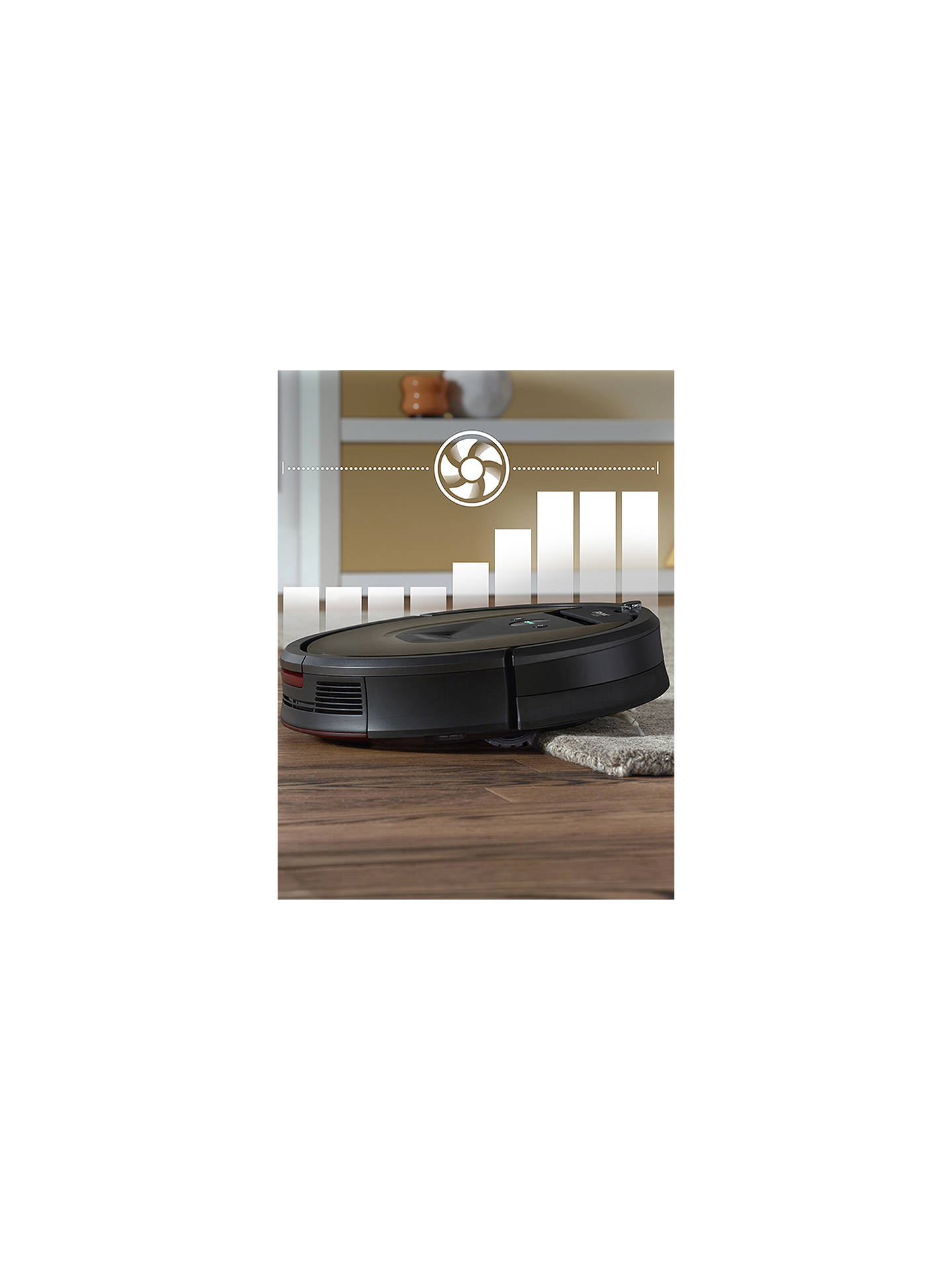 iRobot Roomba 980 Robot Vacuum Cleaner, Black / Brown