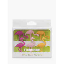 Buy Final Touch Flamingo Wine Glass Markers, Pack of 6 Online at johnlewis.com