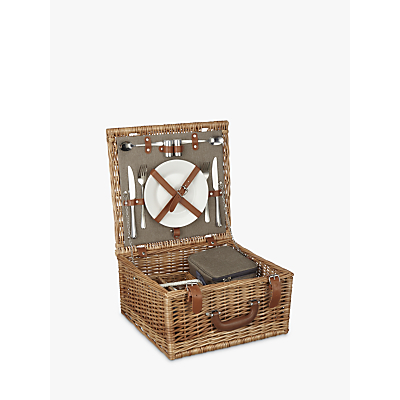 John Lewis Croft Collection 2 Person Luxury Wicker Picnic Hamper
