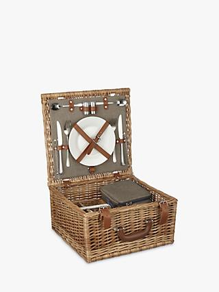 Croft Collection Luxury Filled Wicker Picnic Basket, 2 Person
