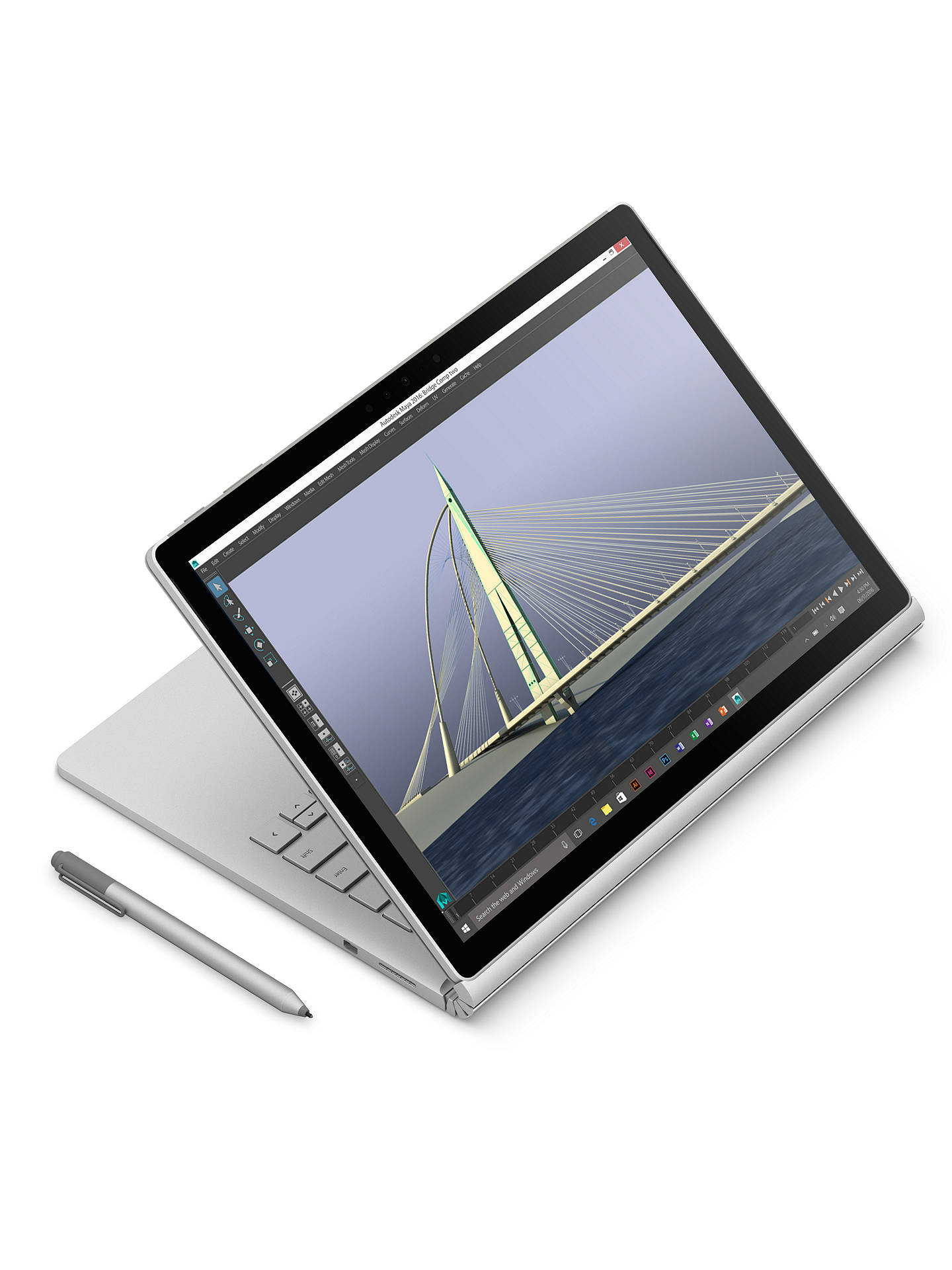Buy Microsoft Surface Book, Intel Core i5, 8GB RAM, 256GB with Arc Touch Mouse, Surface Pen Tip Kit and Maroo Marbled Leather Sleeve Online at johnlewis.com