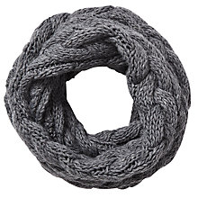 Buy East Chunk Knitted Snood, Grey Online at johnlewis.com