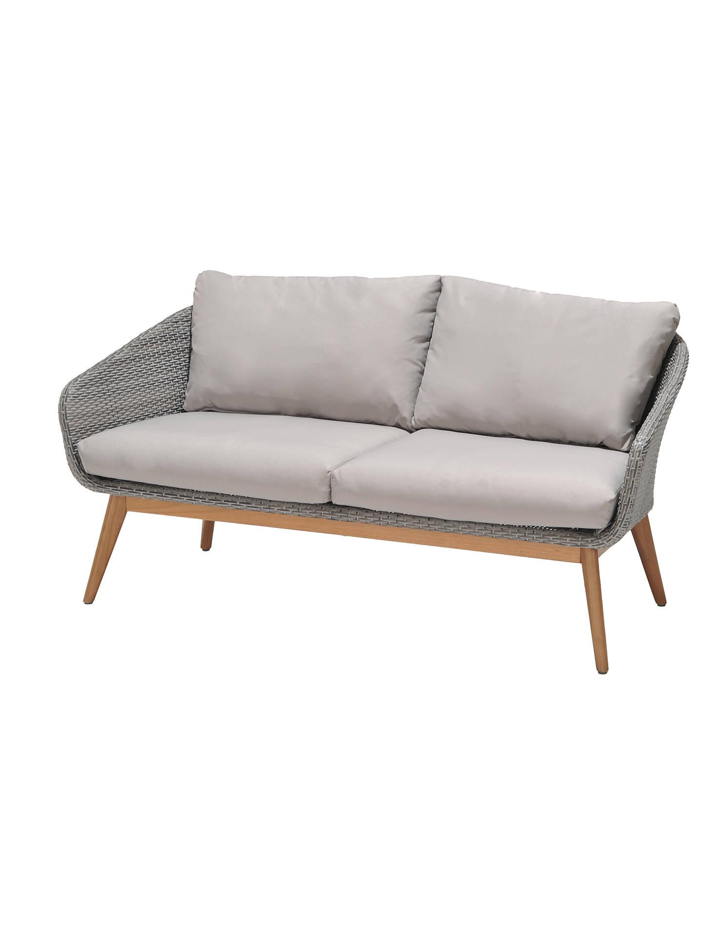 John Lewis Partners Bergen 2 Seater Garden Sofa Fsc Certified Eucalyptus Grey