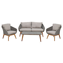 Buy John Lewis Bergen 2-Seater Sofa, Coffee Table and Lounging Armchair Pair, FSC-Certified (Eucalyptus), Grey Online at johnlewis.com