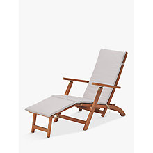 Buy John Lewis Venice 'Steamer' Sunlounger, FSC-Certified (Eucalyptus), Natural Online at johnlewis.com