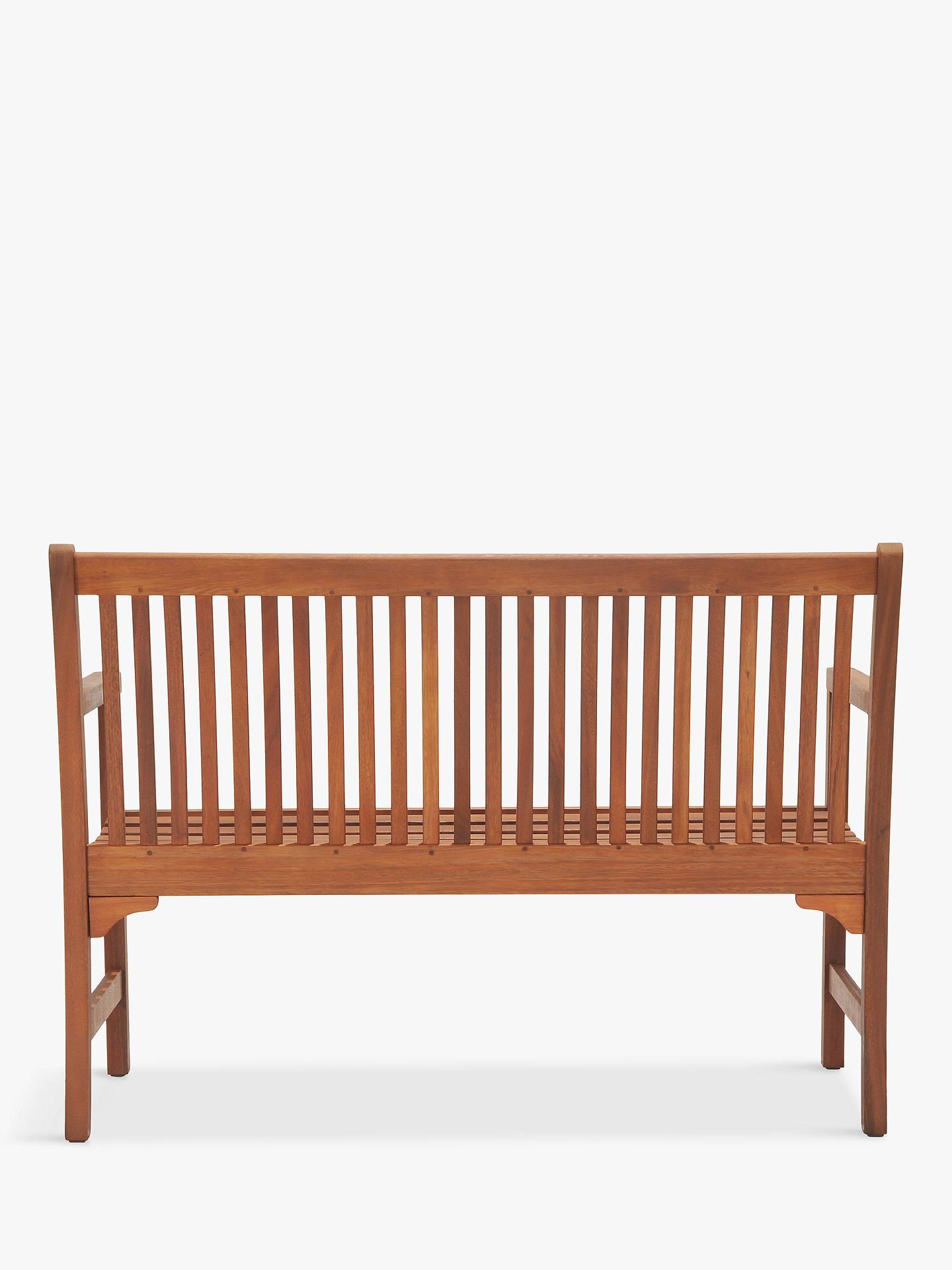 Awe Inspiring John Lewis Partners Venice 2 Seater Bench Fsc Certified Eucalyptus Natural Ibusinesslaw Wood Chair Design Ideas Ibusinesslaworg