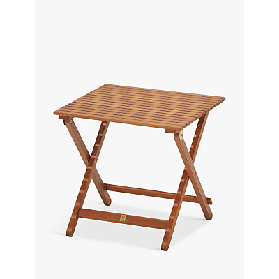 John Lewis Venice Folding Side Table, FSC-Certified (Eucalyptus), Natural