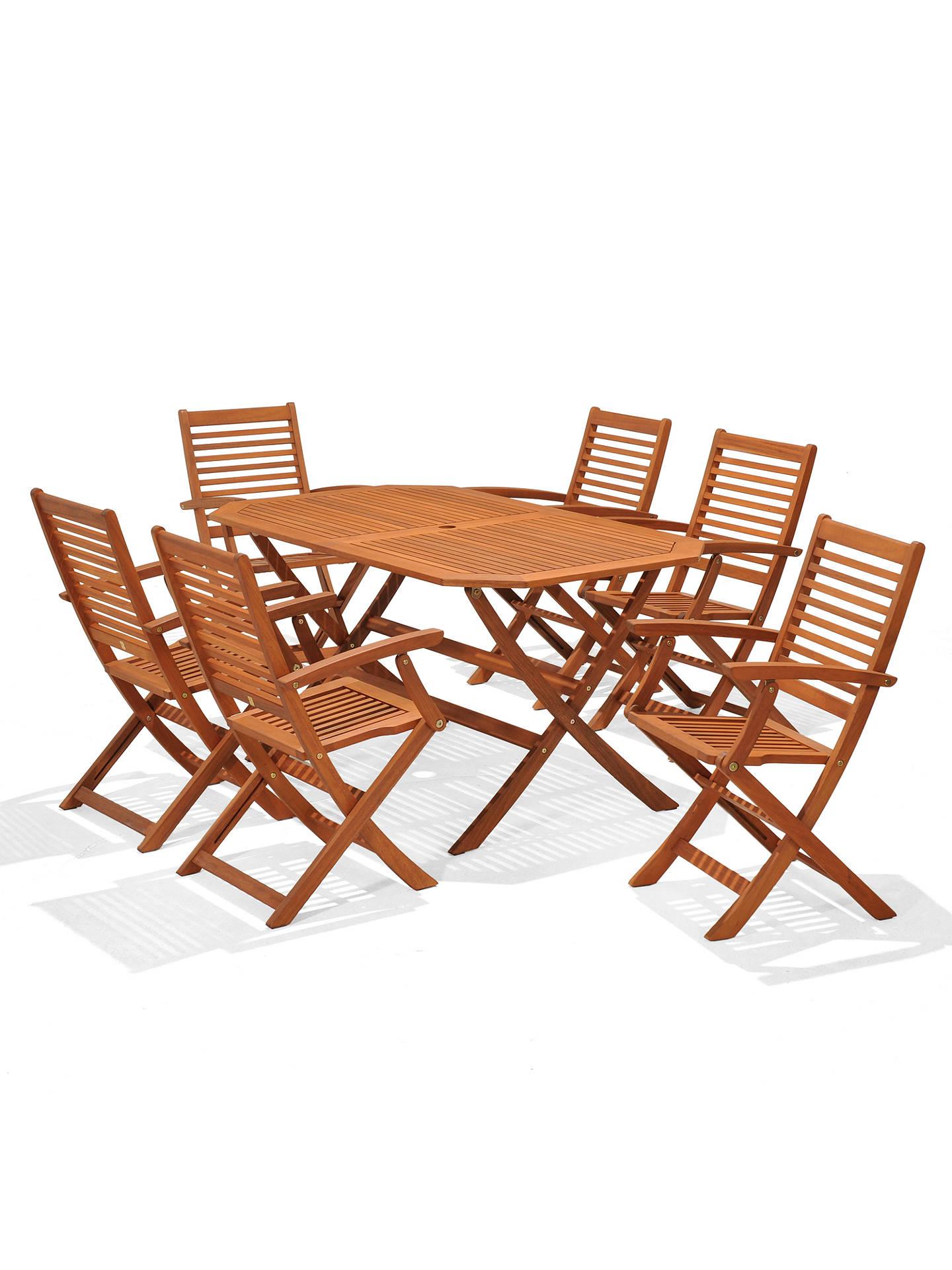 John Lewis Venice Garden Gateleg Table 6 Folding Armchairs Fsc Certified Eucalyptus