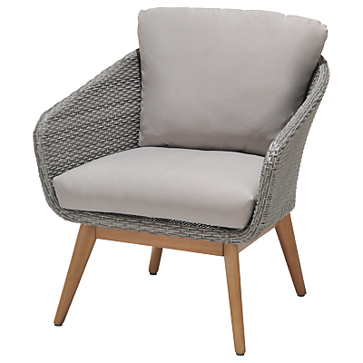 John Lewis Bergen Lounging Armchair, FSC-Certified (Eucalyptus), Grey