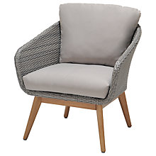 Buy John Lewis Bergen Lounging Armchair, FSC-Certified (Eucalyptus), Grey Online at johnlewis.com